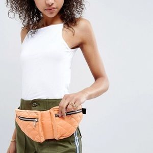 🍊Double pouch quilted fanny pack 🍊